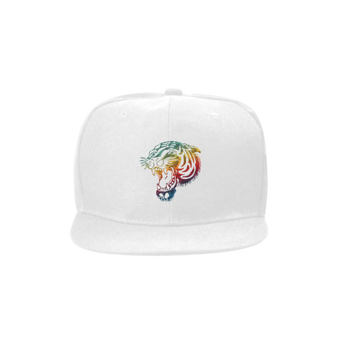 Roaring Tiger Tattoo colored Unisex Snapback Hat