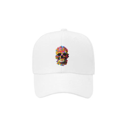 Sugar Candy Skull Dad Cap