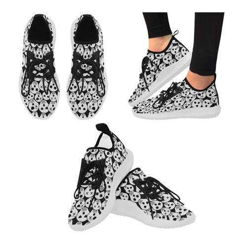silly skull halloween design dolphin ultra light running shoes for women model 035