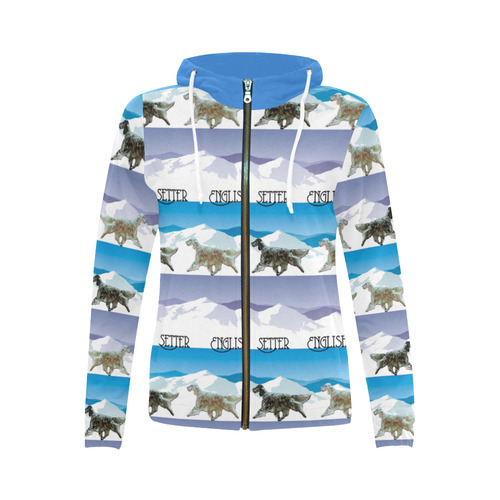 Eng Setters all Rockin The Rockies All Over Print Full Zip Hoodie for Women (Model H14)
