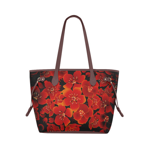 Wonderful flowers, charry blossom Clover Canvas Tote Bag (Model 1661)