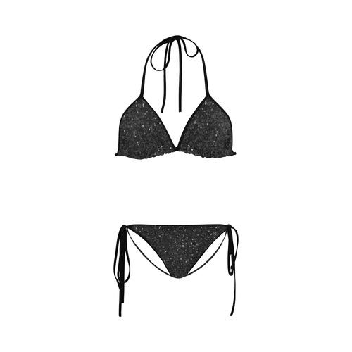 black glitter Custom Bikini Swimsuit