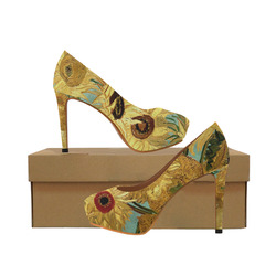 8f35707a7d6 Van Gogh Twelve Sunflowers in a Vase Women s High Heels (Model ...