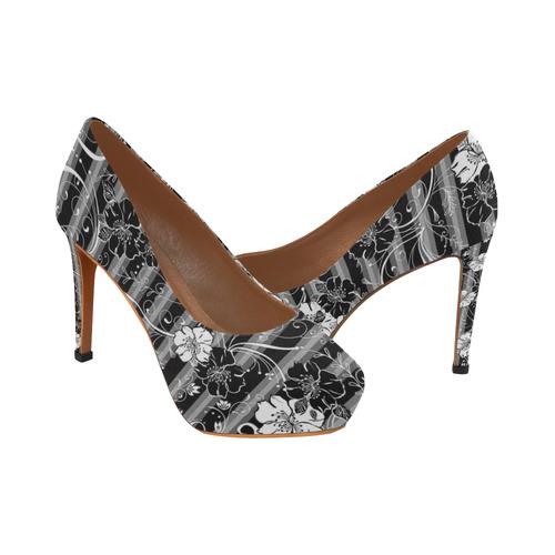 High heel print shoe black white flower stripe black white flower high heel print shoe black white flower stripe black white flower stripe womens high heels mightylinksfo