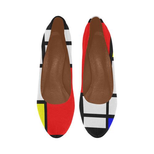 9467f0d98ba Mosaic DE STIJL Style black yellow red blue Women's High Heels (Model 044)    ID: D1831026
