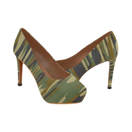 camouflage 66 Women's High Heels (Model 044)