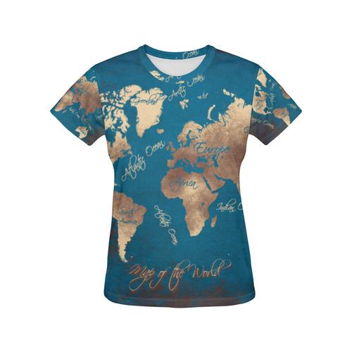 World map all over print t shirt for women usa size model t40 world map all over print t shirt for women usa size model gumiabroncs Images