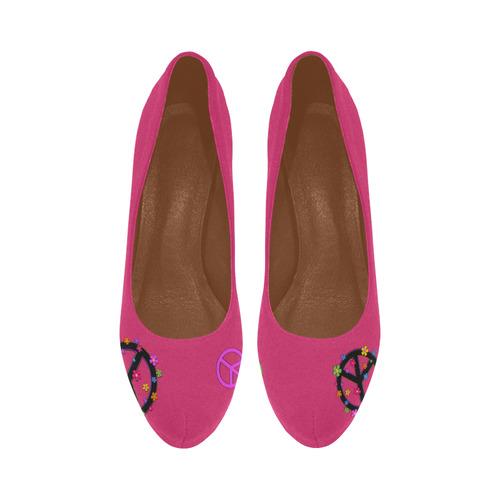PEace signs Women's High Heels (Model 044)