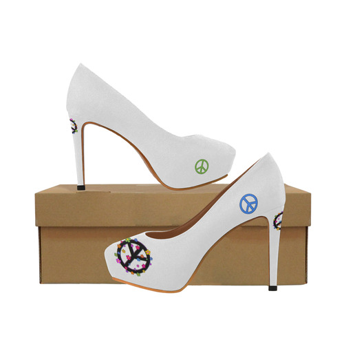 PEace signs 2 Women's High Heels (Model 044)