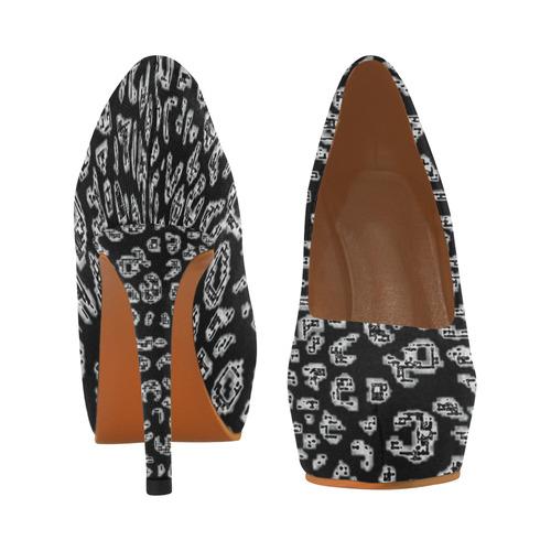 Abstract Graphic Women's High Heels (Model 044)