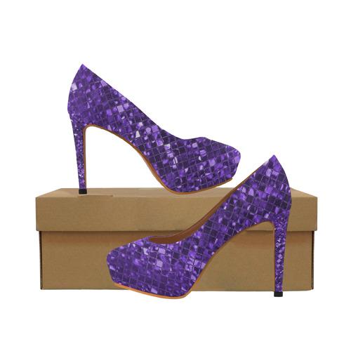c069196f46b2 Amethyst Purple Sparkle Women s High Heels (Model 044)