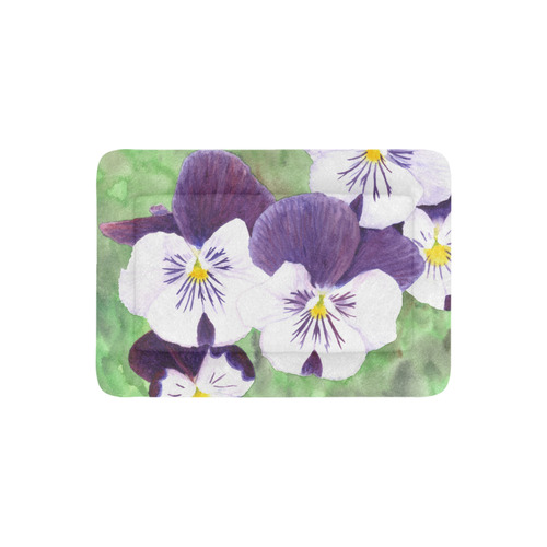 Purple and white pansies flowers pet bed 30x21 id d1843985 purple and white pansies flowers pet bed mightylinksfo