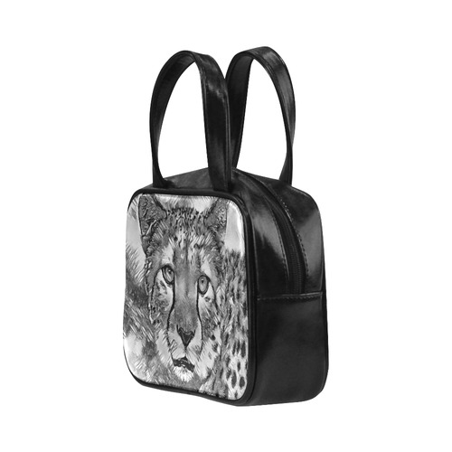 AnimalArtBW_Cheetah_20170604_by_JAMColors Leather Top Handle Handbag (Model 1662)