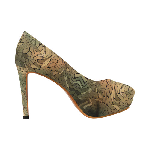 rainbow dragon camouflage Women's High Heels (Model 044)