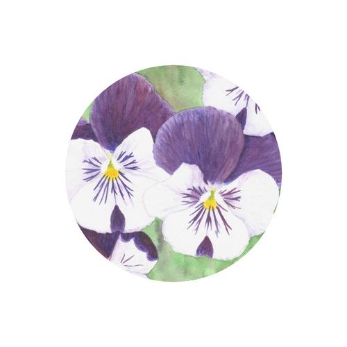 Purple and white pansies flowers round mousepad id d1843795 purple and white pansies flowers round mousepad mightylinksfo