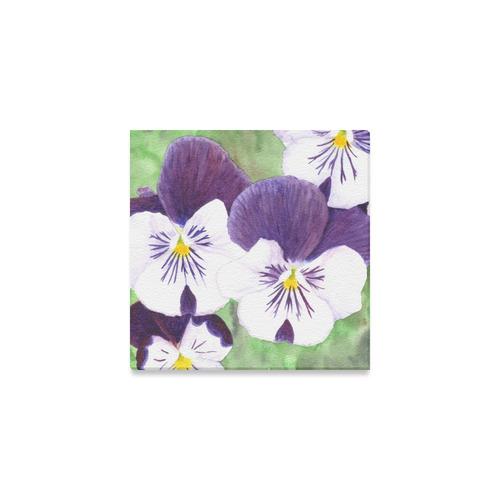 Purple and white pansies flowers canvas print 6x6 id d1843781 purple and white pansies flowers canvas print mightylinksfo