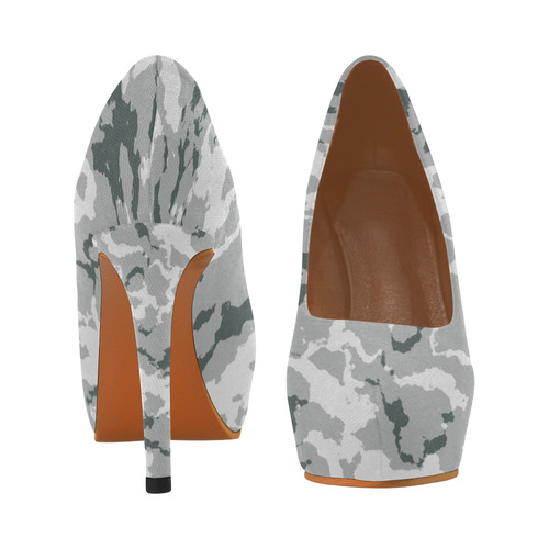 winter camouflage Women's High Heels (Model 044)