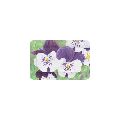 Purple and white pansies flowers pet bed 18x12 id d1843987 purple and white pansies flowers pet bed mightylinksfo