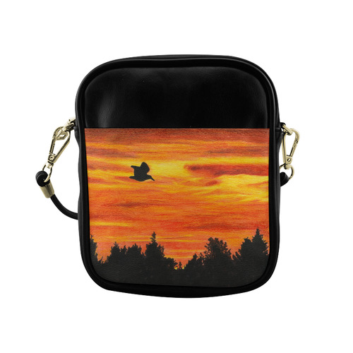 Sunset with bird Sling Bag (Model 1627)