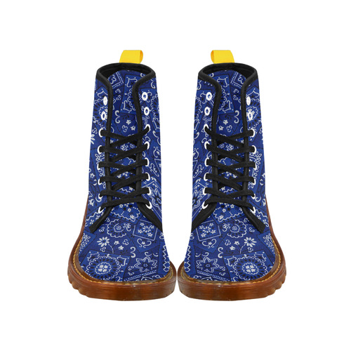 BLUE BANDANA BOOTS Martin Boots For Men Model 1203H