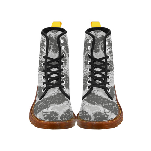 gray snake scales animal skin design camouflage Martin Boots For Women Model 1203H