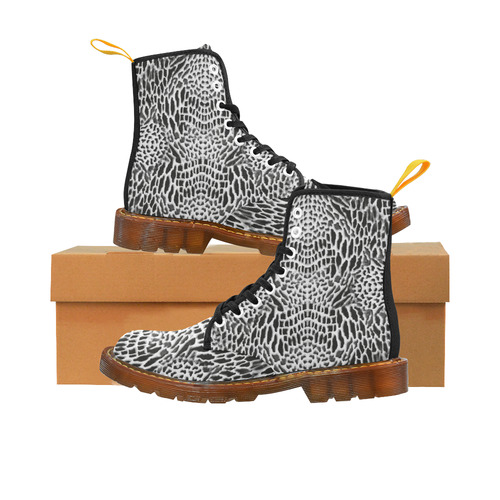 wild cat - black and white Martin Boots For Women Model 1203H