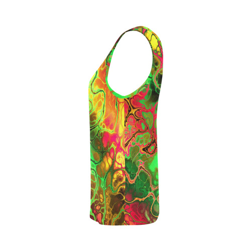 awesome fractal 35I by JamColors All Over Print Tank Top for Women (Model T43)