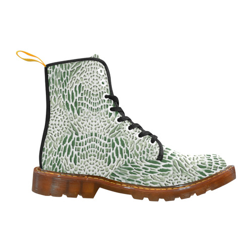 reptile - green and white Martin Boots For Women Model 1203H