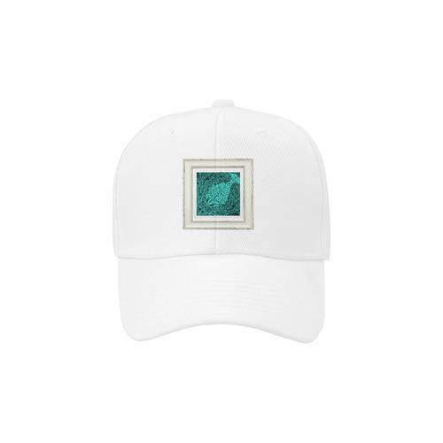 artistic green fish Dad Cap