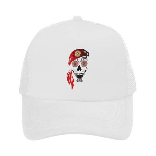 Funny sugar skull Trucker Hat