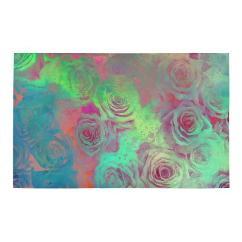 flowers roses Bath Rug 20''x 32''