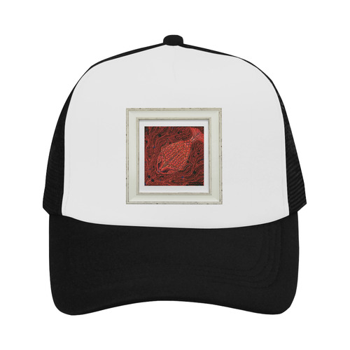 artistic red fish Trucker Hat