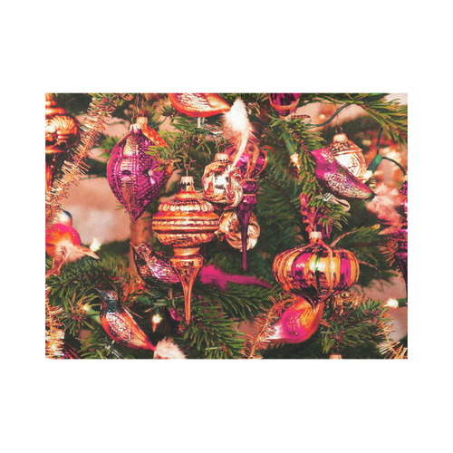 merry christmas 733A by JamColors Placemat 14'' x 19'' (Two Pieces)