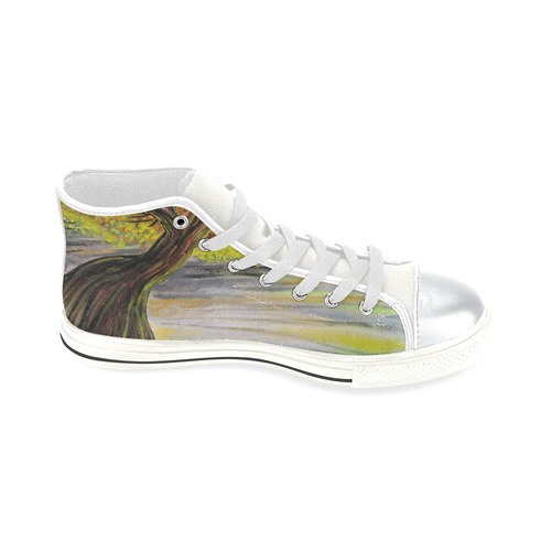 Overlooking Tree High Top Canvas Women's Shoes/Large Size (Model 017)