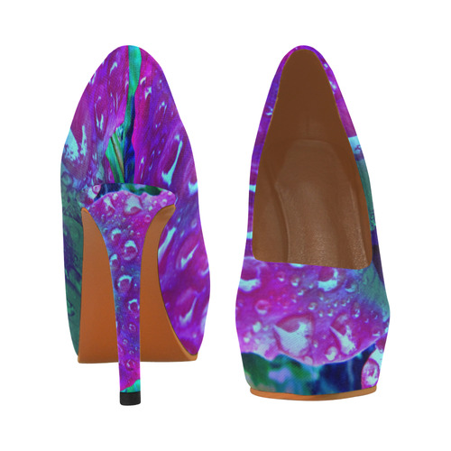 Stiletto Hibuscus Blue by Martina Webster Women's High Heels (Model 044)
