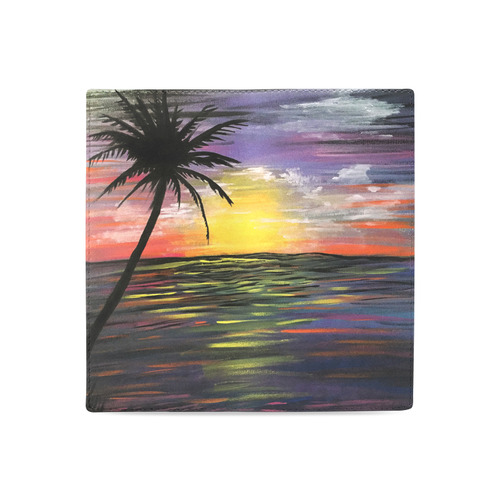 Sunset Sea Women's Leather Wallet (Model 1611)