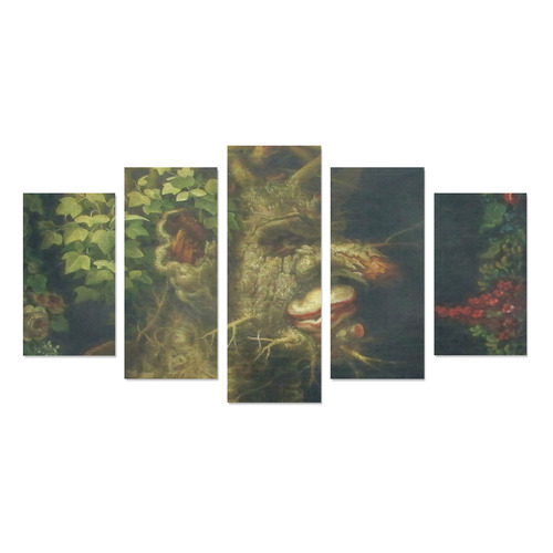 Awesome Painting Winter from Guiseppe Arcimboldo Canvas Print Sets A (No Frame)