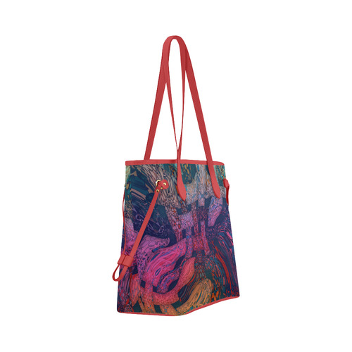 Kaleidoscope multicolor Clover Canvas Tote Bag (Model 1661)
