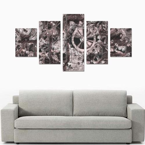 Metal Steampunk Canvas Print Sets B (No Frame)