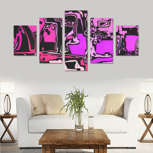 modern abstract 47B by JamColors Canvas Print Sets B (No Frame)