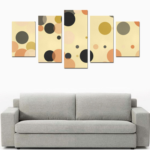 Vintage Polka Dots Canvas Print Sets D (No Frame)