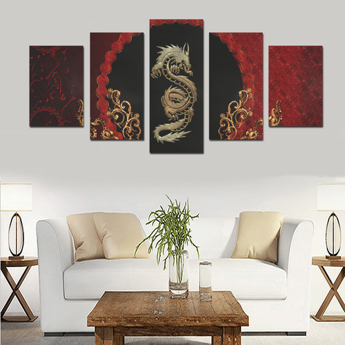 The chinese dragon Canvas Print Sets D (No Frame)