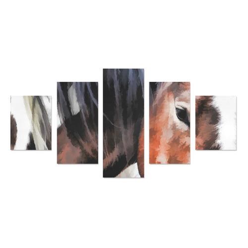 pony Canvas Print Sets B (No Frame)