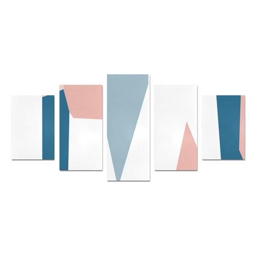 blue pink white Canvas Print Sets D (No Frame)