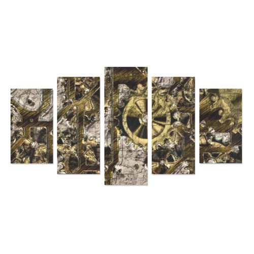 Metal Steampunk Canvas Print Sets A (No Frame)