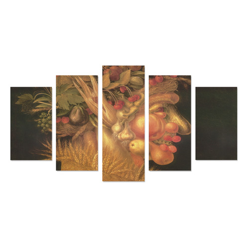 Awesome Painting Summer from Guiseppe Arcimboldo Canvas Print Sets A (No Frame)