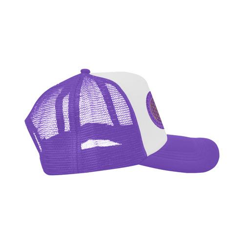 FLOWER OF LIFE gold POWER SPIRAL purple Trucker Hat