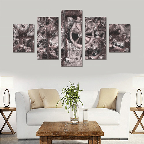 Metal Steampunk Canvas Print Sets B (No Frame)