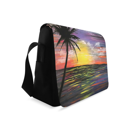 Sunset Sea Messenger Bag (Model 1628)