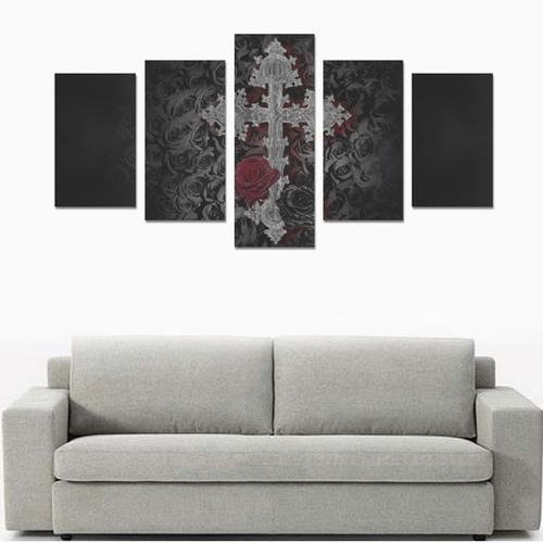 Gothic Cross Canvas Print Sets C (No Frame)